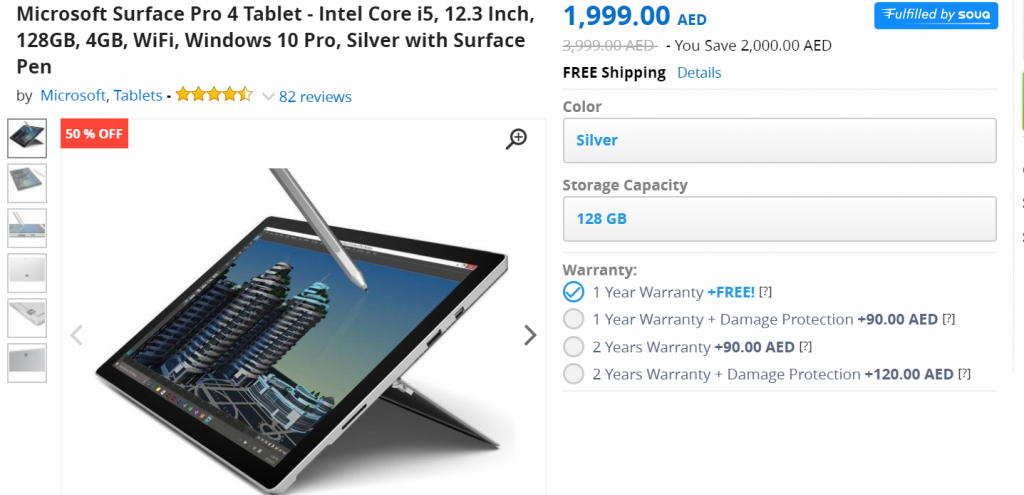 Microsoft Surface Pro White Friday Deal