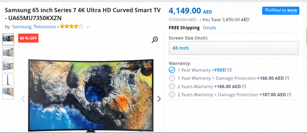 Samsung Curved TV White Friday Deal