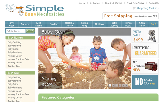 Baby Products Magento Store