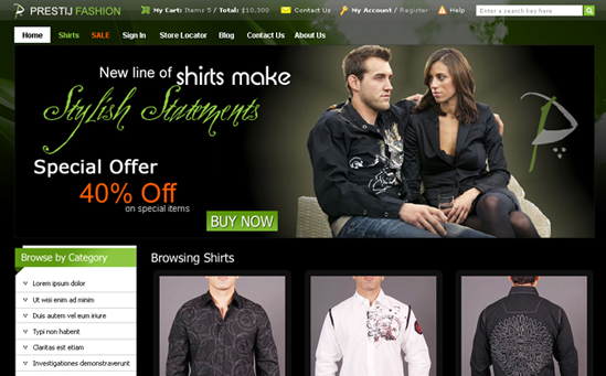 Fashion Clothing Magento Store