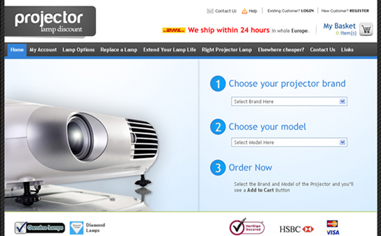 Projector Magento Store